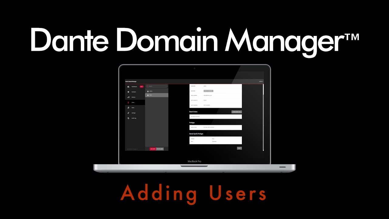 Dante Domain Manager - Adding Users (video thumbnail)